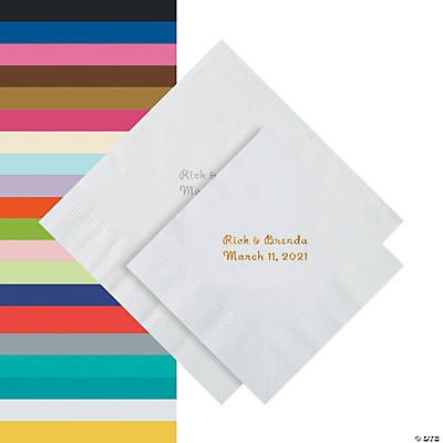 Personalized Wedding Napkins On Sale