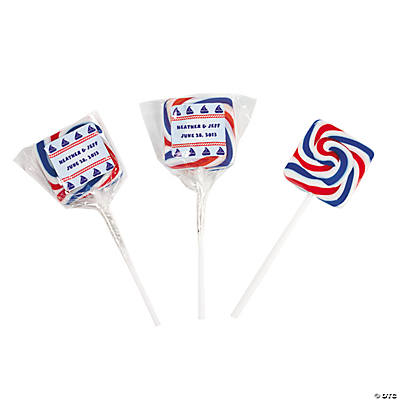 Personalized Nautical Square Swirl Pops