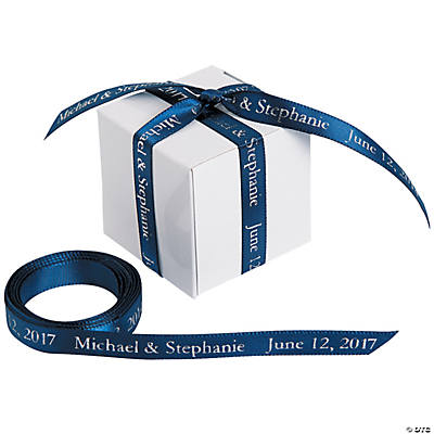 Personalized Navy Ribbon - 3/8""