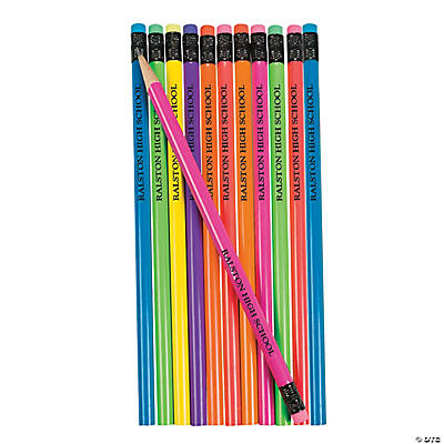 Personalized Neon Solid Color Pencils