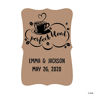Personalized Ornate Die-Cut Coffee Stickers