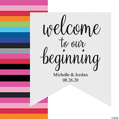 Personalized Our Beginning Fishtail Banner