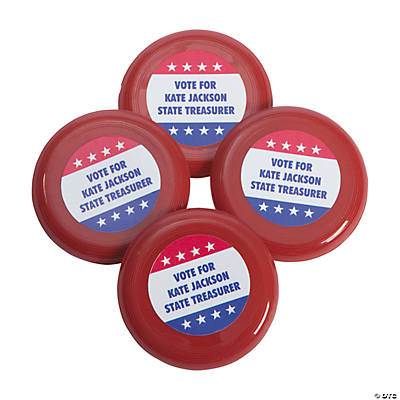 Personalized Patriotic Mini Flying Disks