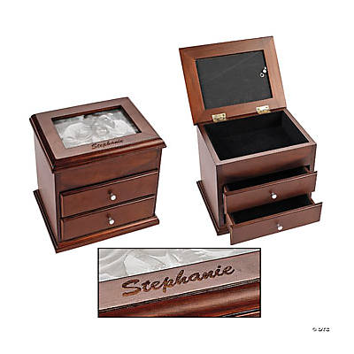 Personalized Picture Frame Jewelry Box with Drawers - Discontinued