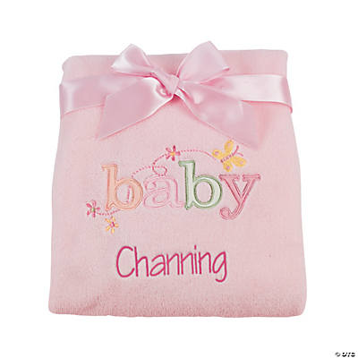 Personalized Pink Baby Blanket