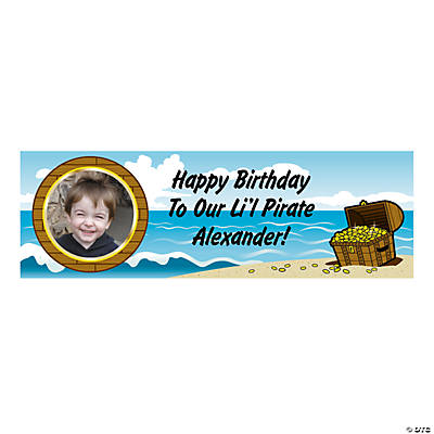 Personalized Pirate Photo Banner