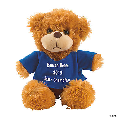 Personalized Plush Bear with Blue T-Shirt