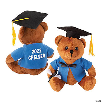 Personalized Plush Graduation Bear - Blue