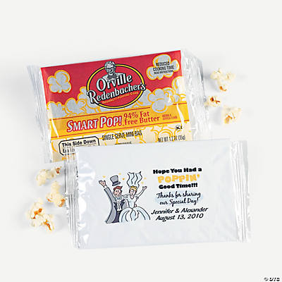 Personalized popping good time microwave popcorn oriental trading
