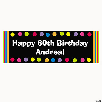 Personalized Primary Birthday Banner - Large