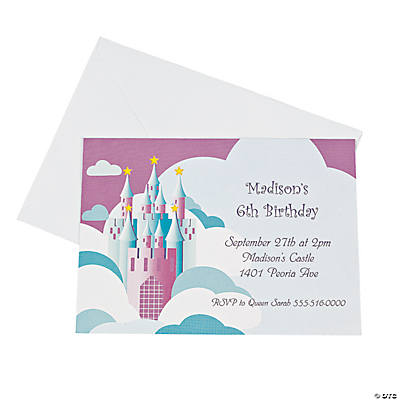 Personalized Princess Birthday Invitations Discontinued