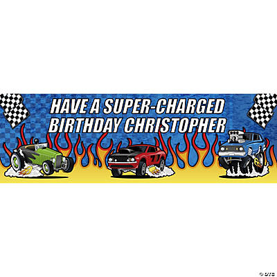 Personalized Race Car Banner - Medium
