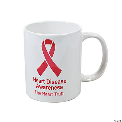 Personalized Red Ribbon Coffee Mug