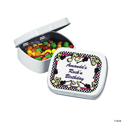 Personalized Rock 'n' Roll Candy Tins