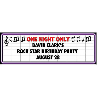 Personalized Rock Star Banner - Medium