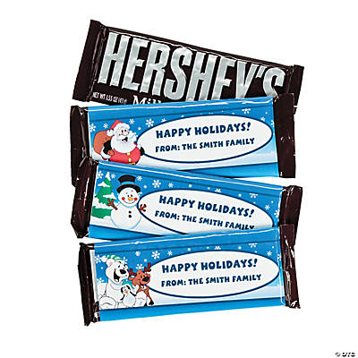Personalized Santa & Friends Hershey's® Chocolate Bars