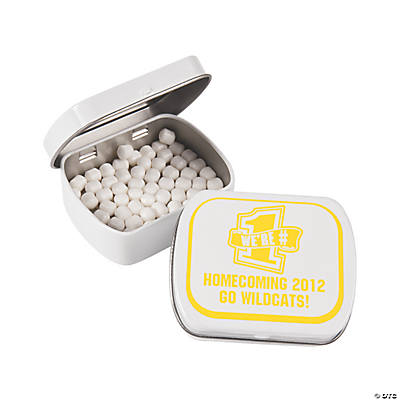 Personalized School Spirit Yellow Mint Tins