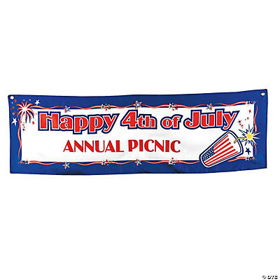 Personalized SMALL Happy 4th of July Banner