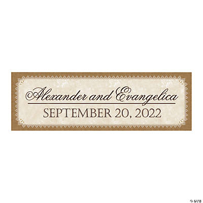 Personalized Small Rustic Wedding Banner