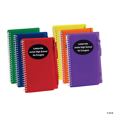 Personalized Spiral Notebook And Pen Sets