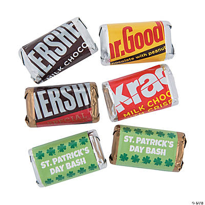 Personalized St. Patrick's Day Mini Candy Bar Sticker Labels