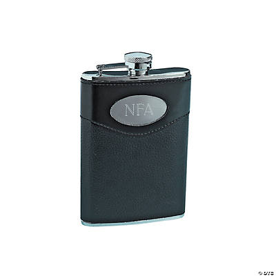 Personalized Stainless Steel Hip Flask with Cover