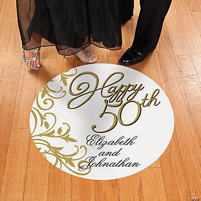 Personalized 50th Anniversary Floor Cling