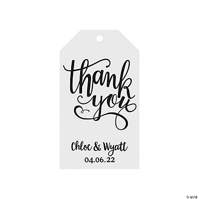 Personalized Thank You Favor Tags