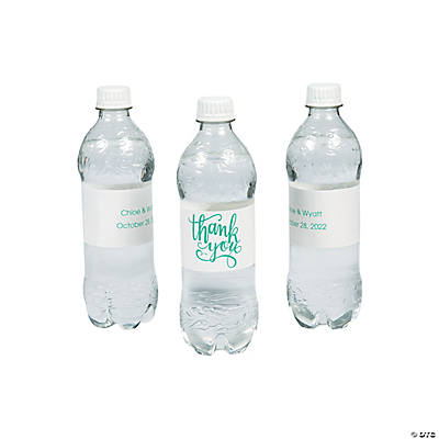 Personalized Thank You Water Bottle Labels