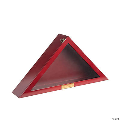 Personalized Triangle Flag Display Case