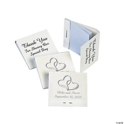 Personalized Two Hearts Matchbook Notebooks