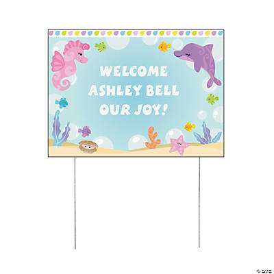 Personalized Under the Sea Girl Yard Sign