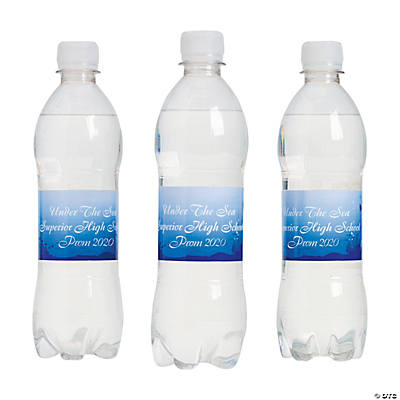 Personalized Under the Sea Water Bottle Labels