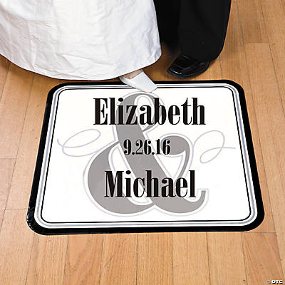 Personalized Wedding Floor Cling - White