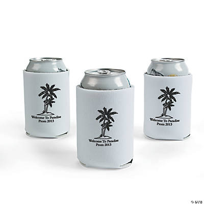 Personalized White Luau Can Covers