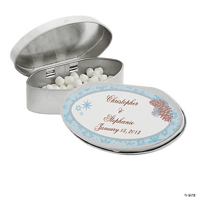 Personalized Winter Enchantment Mint Tins