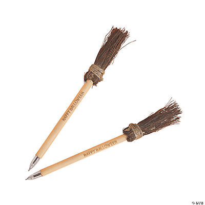 Personalized Witch's Broom Pens