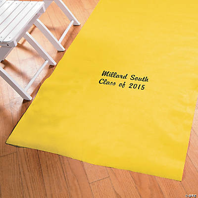 Personalized Yellow Graduation Aisle Runner