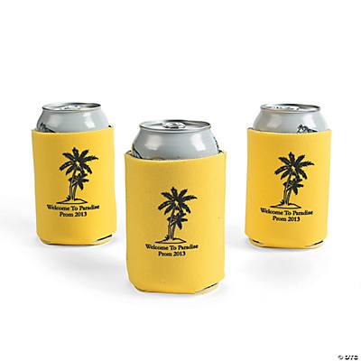 Personalized Yellow Luau Can Covers