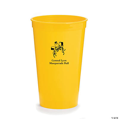 Personalized Yellow Masquerade Tumblers