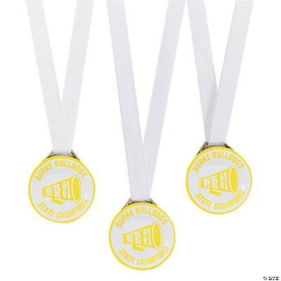 Personalized Yellow Team Spirit Medals