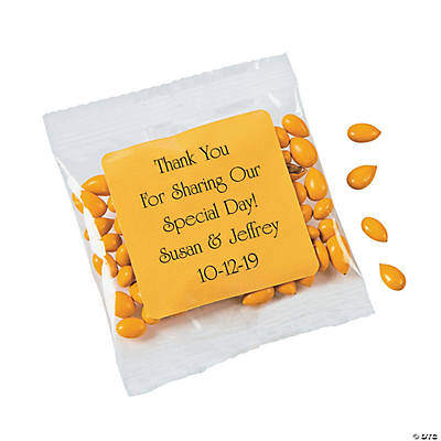 Personalized Yellow Wedding Candy Sunflower Seeds
