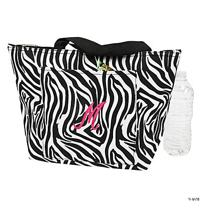 Personalized Zebra Print Lunch Tote
