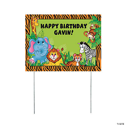 Personalized Zoo Animal Yard Sign