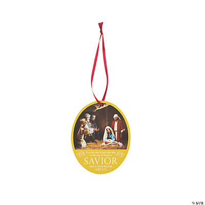 Photographic Nativity Ornaments