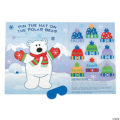"""Pin the Hat on the Polar Bear"" Game"
