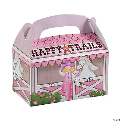 Pink Cowgirl Favor Boxes