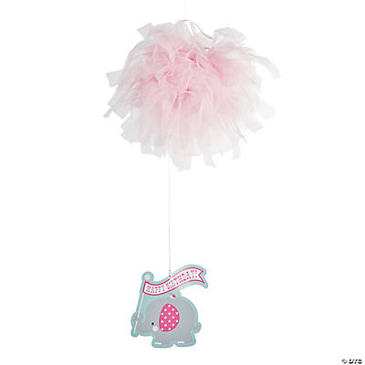 Pink Elephant Tulle Hanging Decoration