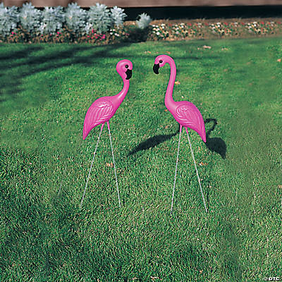 pink flamingo yard ornaments - Yard Decor