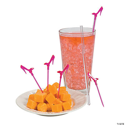 Pink High Heel Stir Sticks with Picks